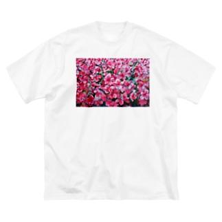 tsutsuji Big silhouette T-shirts