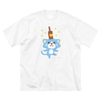 ほんわか通りのこねこさん Big silhouette T-shirts
