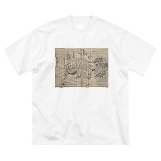 夢応の鯉魚L Big silhouette T-shirts