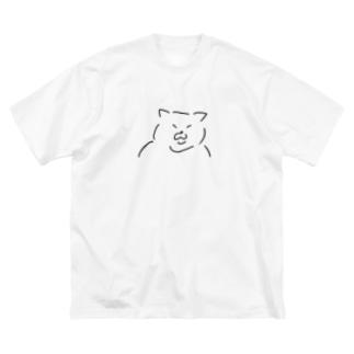 太ったねこ Big silhouette T-shirts