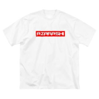 A.ZA.RA.SHI BOXロゴ Big silhouette T-shirts