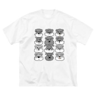 シュナ12 Big silhouette T-shirts