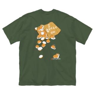 《両面プリント》鈴カステラ・ロボロフスキーハムスター Big silhouette T-shirts