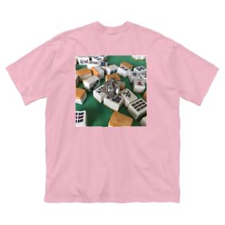 ダイヤモンドon the麻雀牌 Big silhouette T-shirts