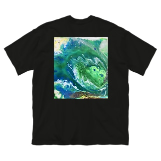 『Green Earth』×『おサカナジョイナス』 Big silhouette T-shirts
