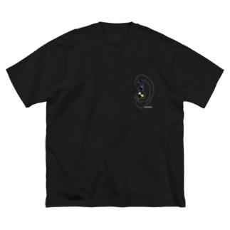 壁に耳あり耳にも目あり Big silhouette T-shirts