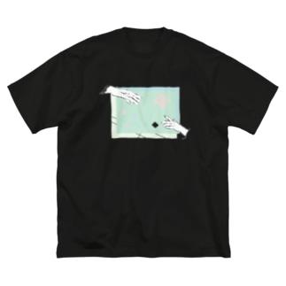 ツナガル Big silhouette T-shirts