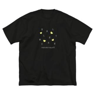 【白文字】CRAZY-BM2020 Big silhouette T-shirts