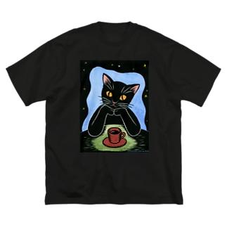 Black coffee Big silhouette T-shirts