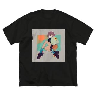 らしく Big silhouette T-shirts