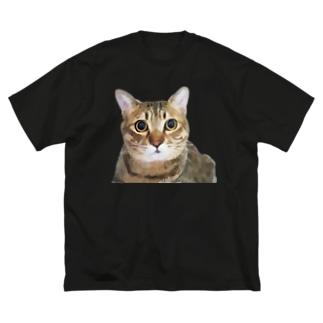 グラフィックつみれ Big silhouette T-shirts