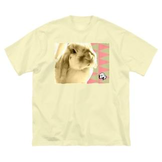 【uncle momo】たれ耳うさぎのモモおじさん Big silhouette T-shirts