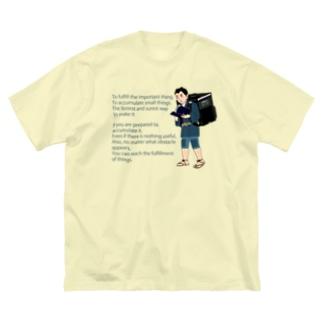 Uber金次郎 Big silhouette T-shirts