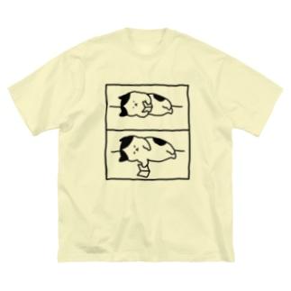 2コマ漫画 Big silhouette T-shirts