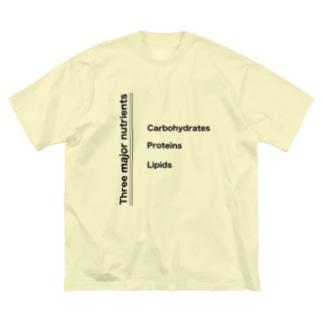 3大栄養素 Big silhouette T-shirts
