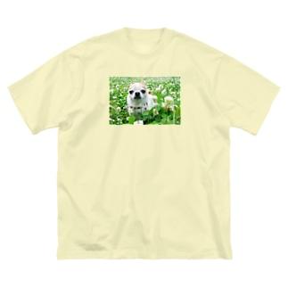 akane_artのカラフルチワワ(クローバー) Big silhouette T-shirts