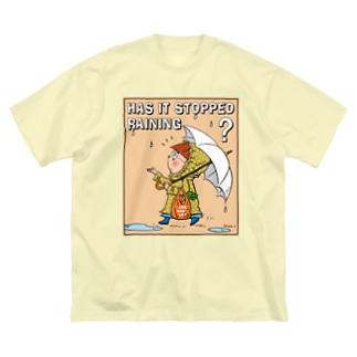 Rainyベージュドット Big silhouette T-shirts