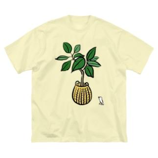おさとうとおしおのアルテシマとぶんちょう Big Silhouette T-Shirt