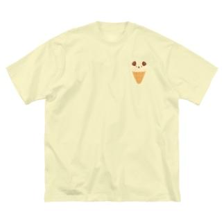 こいぬアイス Big Silhouette T-Shirt