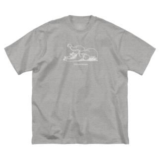 カイヌシとじゃれ合うインコさん(スープレックスホールド) Big silhouette T-shirts