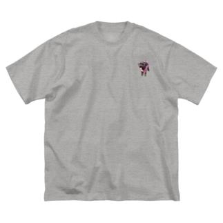 トイプードル ピュア Big silhouette T-shirts
