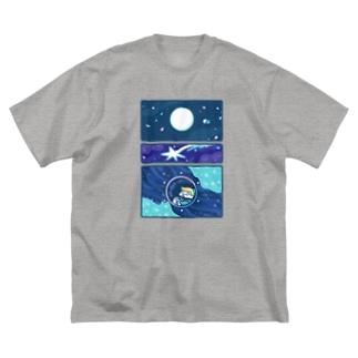 わくせい Big silhouette T-shirts