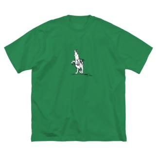 管理係のアナウサギ Big silhouette T-shirts