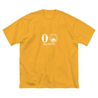 miritakaの時間の令和のくるくるパーマ(白線) Big silhouette T-shirts