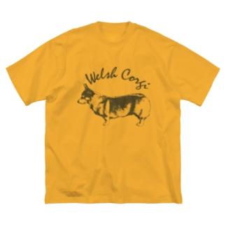 クラシック コーギー 左 Big silhouette T-shirts