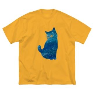 宇宙猫 Big silhouette T-shirts