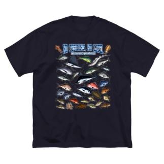 Saltwater fish_3CW Big silhouette T-shirts