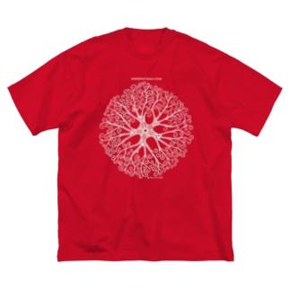 テヅルモヅルdeepcolor Big silhouette T-shirts