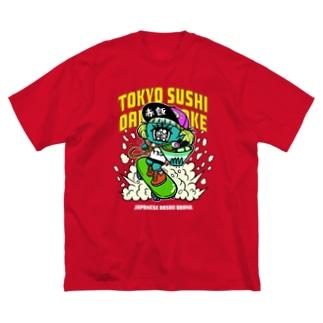 ラーメンゴリ押しT(アメリカン) Big silhouette T-shirts