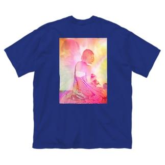 バックプリント ナビ ビビビ⚡ Big silhouette T-shirts