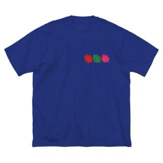 カラフルリーフ Big silhouette T-shirts