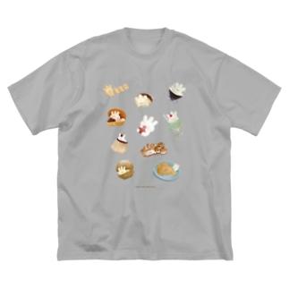おいしいぷくしゅん Big silhouette T-shirts