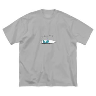 ブルーマンデー君 Big silhouette T-shirts