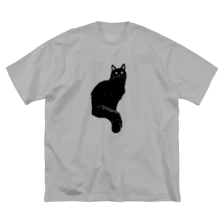 長毛になりつつあるおこげちゃん Big silhouette T-shirts