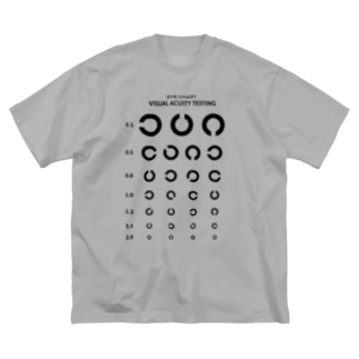 Visual Acuity Testing [前面プリント] ブラック Big T-shirts