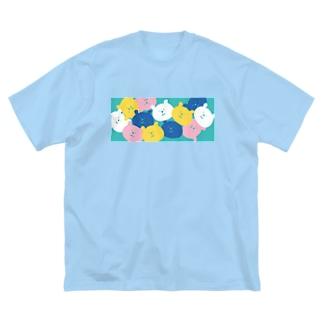 パラパラクマ レトロカラー3gr Big silhouette T-shirts