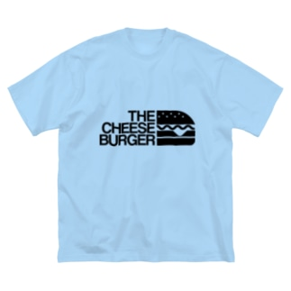 THE CHEESE BURGER チーズバーガー Big silhouette T-shirts