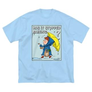 Rainyブルードット Big silhouette T-shirts
