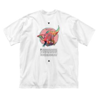 パラサウロロフス Big silhouette T-shirts