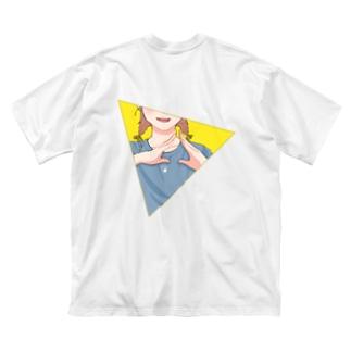 【背面】さんかく! Big silhouette T-shirts