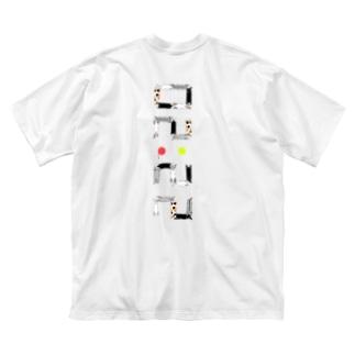 ベタですみません。縦 Big silhouette T-shirts