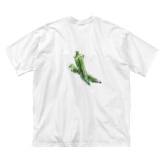 ベジタブルT(オクラ) Big silhouette T-shirts