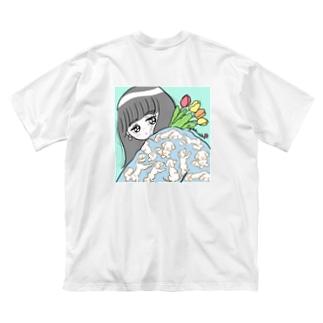 飼い犬 Big silhouette T-shirts