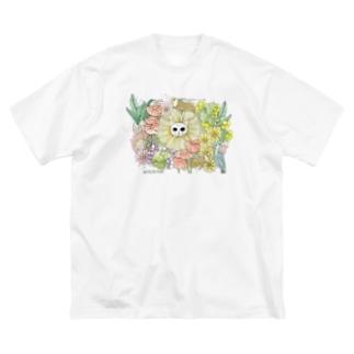 猫神さま Big silhouette T-shirts