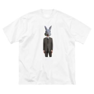ウサギさん4 Big silhouette T-shirts