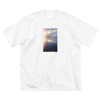 景色 Big silhouette T-shirts